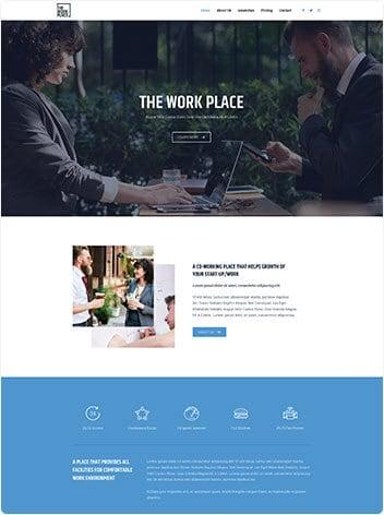 Co-working space wodpress demo site screenshot