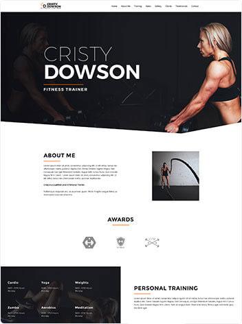 Fitness trainer wordpress demo site