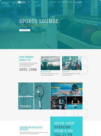 Sports lounge wordpress demo site