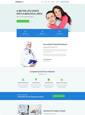 dental wordpress demo site