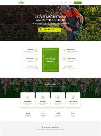 gardener wordpress demo site