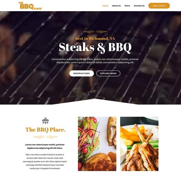 bbq WordPress demo site screenshot