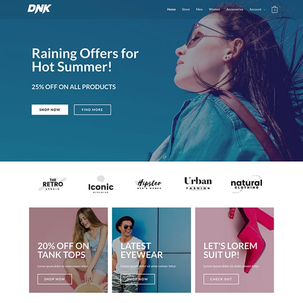brand-store WordPress demo site screenshot