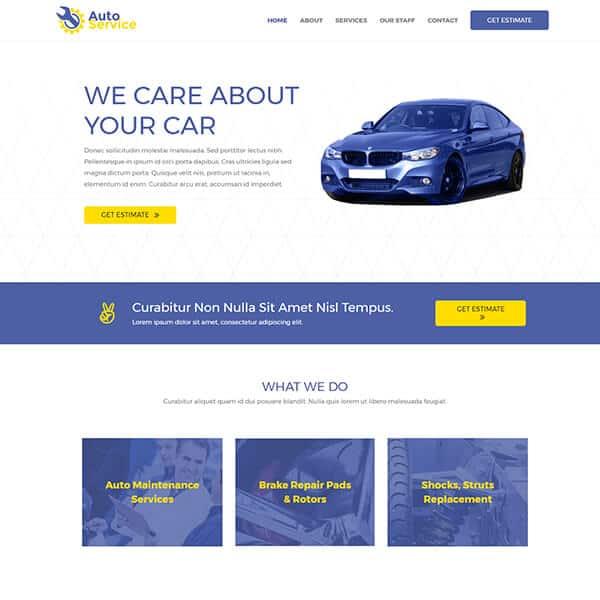 car-repair WordPress demo site screenshot