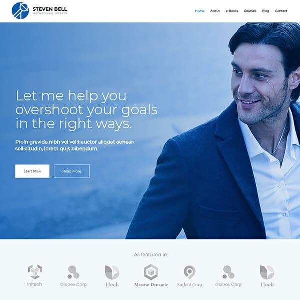 coach WordPress demo site screenshot