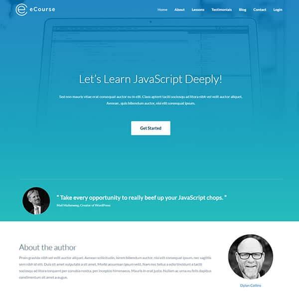 e-course WordPress demo site screenshot