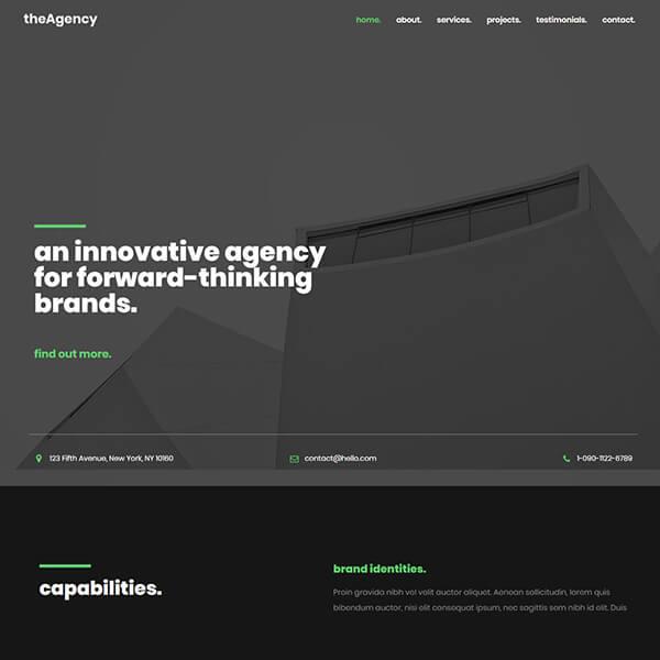 the ahency WordPress demo site screenshot